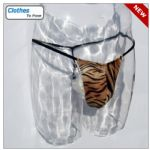 Mens Swim G String - Tiger & Black